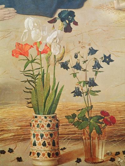 Flower Detail, From the Central Panel of the Portinari Altarpiece, c.1479-Hugo van der Goes-Giclee Print