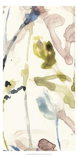 Flower Drip Triptych III-Jennifer Goldberger-Art Print
