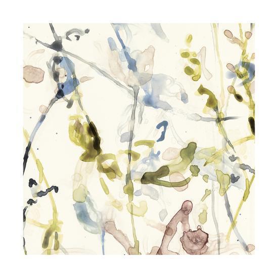 Flower Drips I-Jennifer Goldberger-Art Print