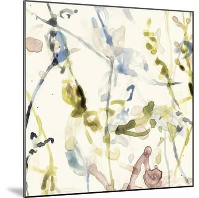 Flower Drips I-Jennifer Goldberger-Mounted Art Print