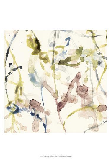 Flower Drips III-Jennifer Goldberger-Art Print