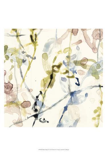 Flower Drips IV-Jennifer Goldberger-Art Print