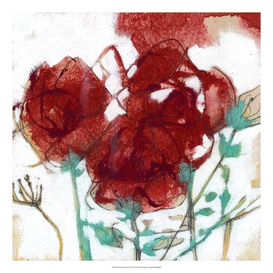 Flower Expression I-Jennifer Goldberger-Premium Giclee Print