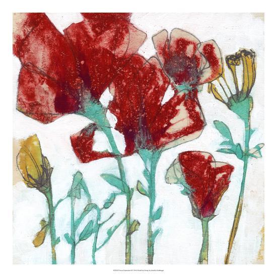 Flower Expression II-Jennifer Goldberger-Premium Giclee Print