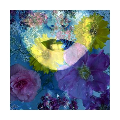 Flower Face Blue-Alaya Gadeh-Art Print