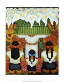 Flower Festival Feast Of Santa Anita 1931 Art Print By