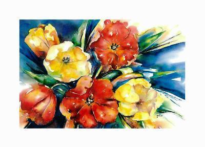 Flower Festival II-Hanneke Floor-Art Print