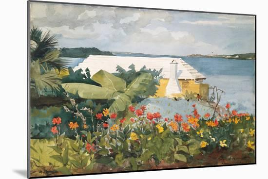 Flower Garden and Bungalow, Bermuda, 1899-Winslow Homer-Mounted Giclee Print