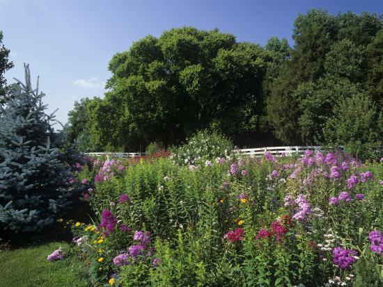 Flower Garden, Broadmore Gardens, Kentucky, USA-Adam Jones-Photographic Print