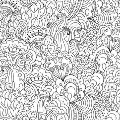 Flower Garden Coloring Art