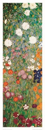 Flower Garden (detail)-Gustav Klimt-Art Print