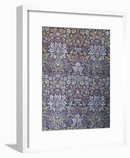 Flower Garden Furnishing Fabric, Jacquard Woven Silk, England, 1879-William Morris-Framed Giclee Print