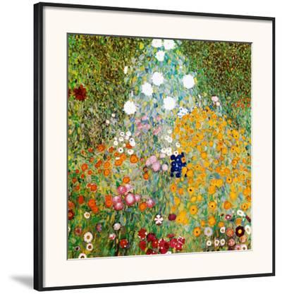Flower Garden-Gustav Klimt-Framed Art Print