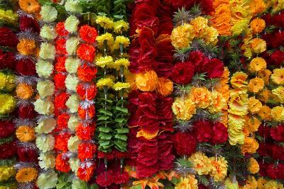 Flower Garlands for Sale-Michael Melford-Photographic Print