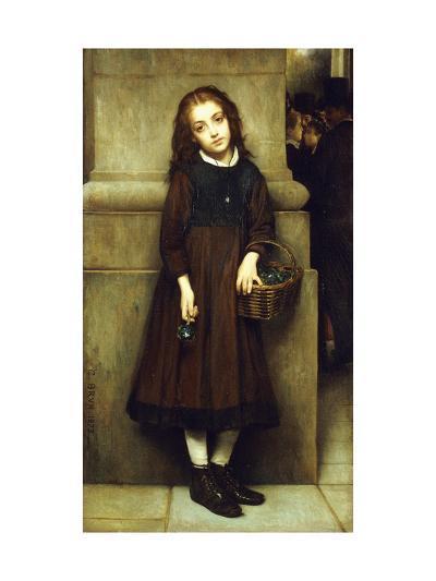 Flower Girl outside the Opera-Guillaume Charles Brun-Giclee Print