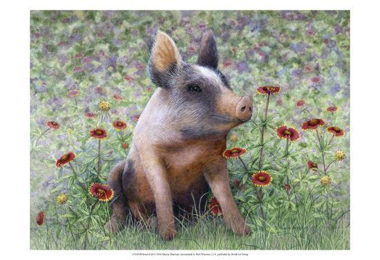 Flower Girl-Marcia Matcham-Art Print