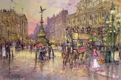 Flower Girls, Piccadilly Circus, London-John Sutton-Giclee Print