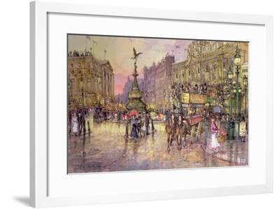 Flower Girls, Piccadilly Circus, London-John Sutton-Framed Giclee Print