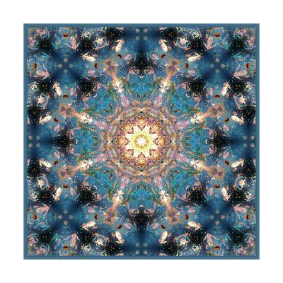 Flower Mandala Blue Universe-Alaya Gadeh-Art Print