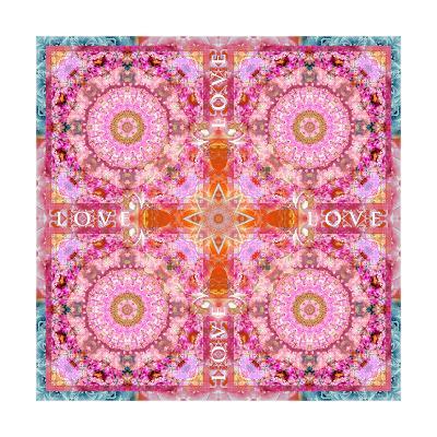 Flower Mandala Love I-Alaya Gadeh-Art Print