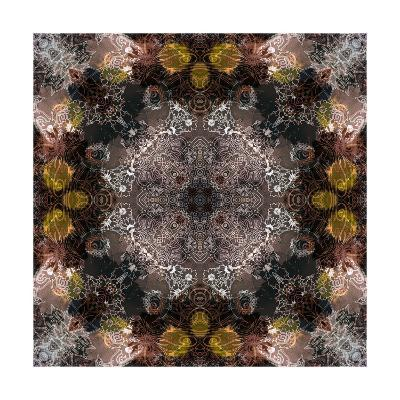 Flower Mandala Ornament-Alaya Gadeh-Art Print