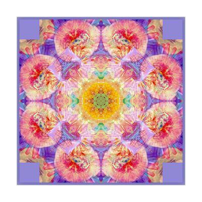 Flower Mandala Round Blossom-Alaya Gadeh-Art Print
