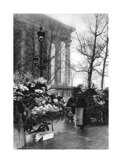 Flower Market at the Madeleine, Paris, 1931-Ernest Flammarion-Giclee Print