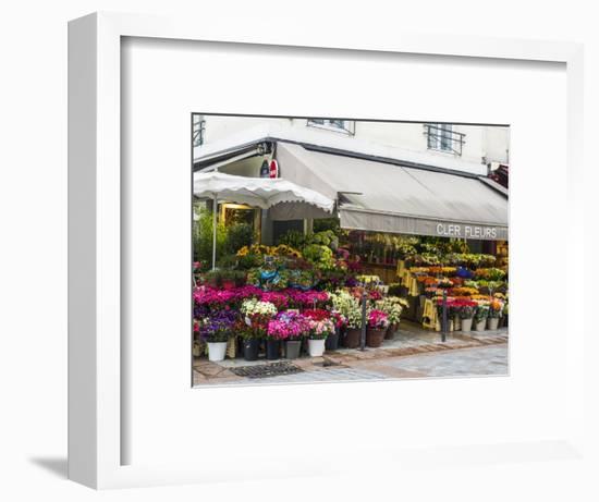 Flower market, Rue Cler, Paris-Sylvia Gulin-Framed Photographic Print