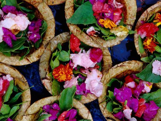 Flower Offerings for Sale on Sita Kund During Khumb Mela-Richard l'Anson-Photographic Print