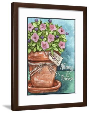 Flower Pink Bless This Home-Melinda Hipsher-Framed Giclee Print