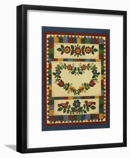 Flower Quilt 1-Debbie McMaster-Framed Giclee Print