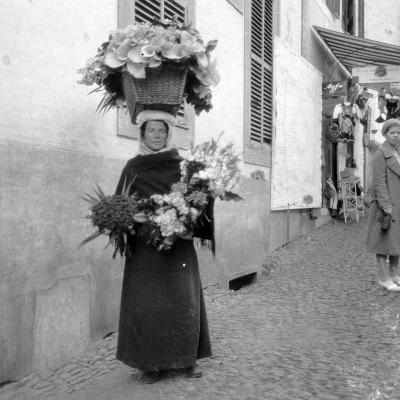 Flower Seller, Funchal, Madeira, 20th Century--Photographic Print