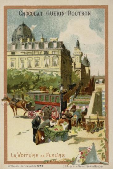 Flower Seller's Wagon--Giclee Print