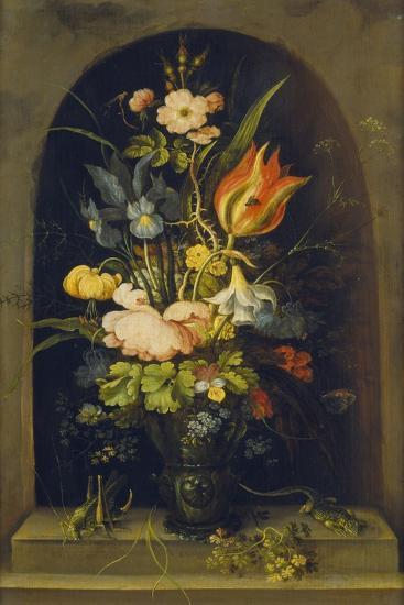 Flower Still Life in a Niche, 1627-Rogier van der Weyden-Giclee Print