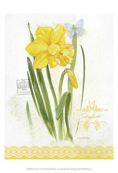 Flower Study on Lace V-Elissa Della-piana-Art Print