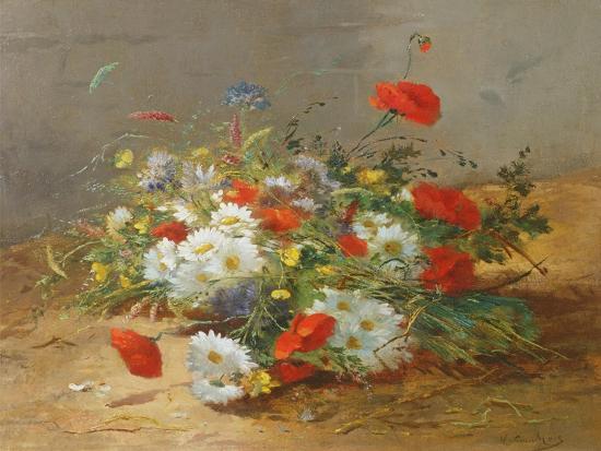 Flower Study-Eugene Henri Cauchois-Giclee Print