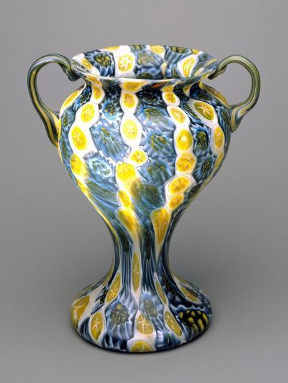 Flower Vase with Murrine, 1910-1920, Italy--Giclee Print