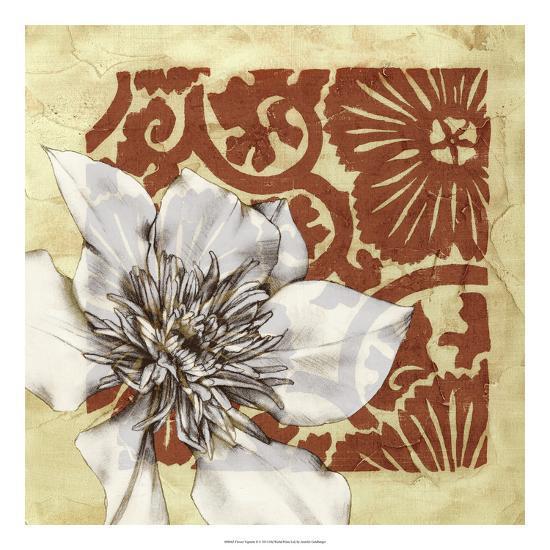 Flower Vignette II-Jennifer Goldberger-Premium Giclee Print