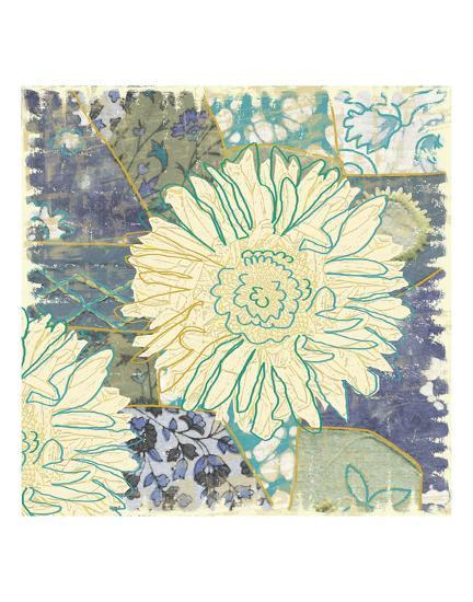 Flower with Fabric-Erin Clark-Art Print
