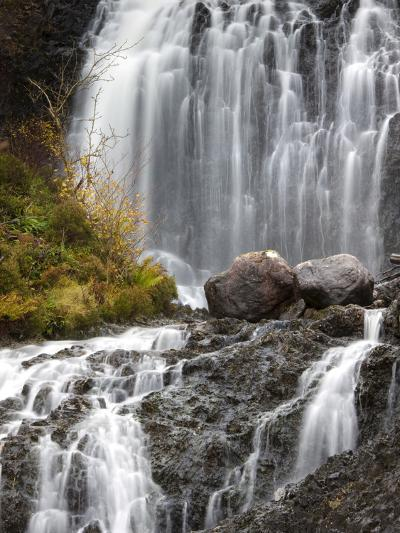 Flowerdale Falls, a Waterfall Near the Village of Gairloch, Torridon, Scotland, United Kingdom-Lee Frost-Photographic Print