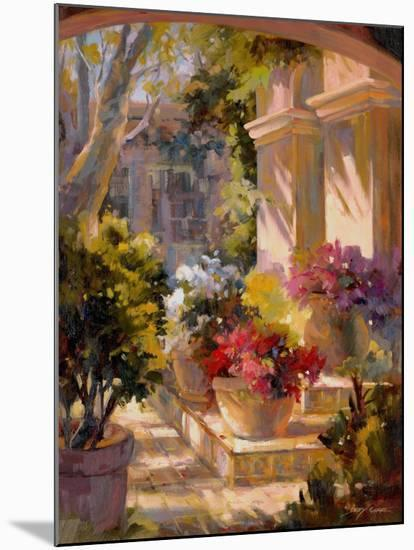 Flowered Courtyard-Betty Carr-Mounted Premium Giclee Print
