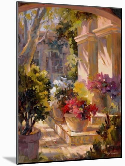 Flowered Courtyard-Betty Carr-Mounted Art Print
