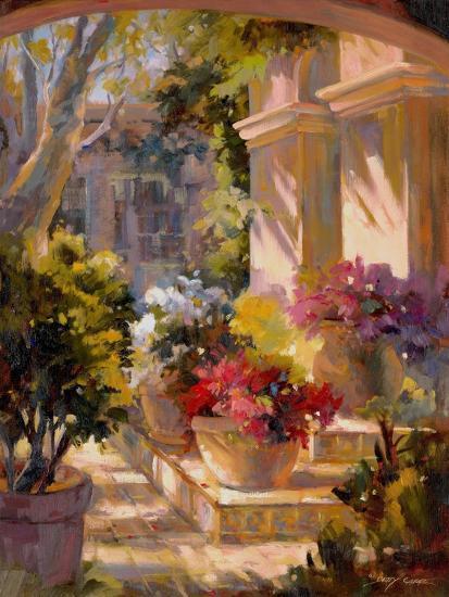 Flowered Courtyard-Betty Carr-Art Print