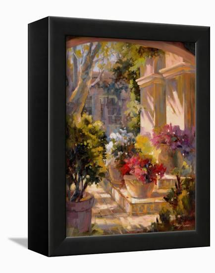 Flowered Courtyard-Betty Carr-Framed Stretched Canvas Print