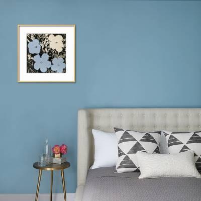 pop art bedroom decor online information.htm flowers  1965  3 blue  1 ivory   art print andy warhol art com  blue  1 ivory   art print andy warhol