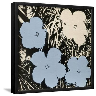 Flowers, 1965 (3 blue, 1 ivory)-Andy Warhol-Framed Art Print
