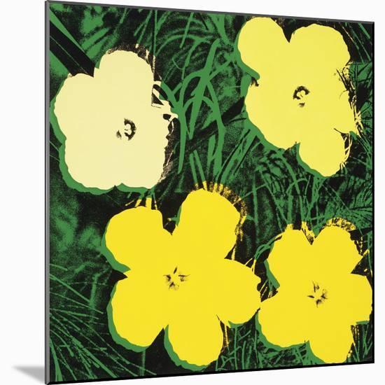 Flowers, 1970 (4 yellow)-Andy Warhol-Mounted Art Print