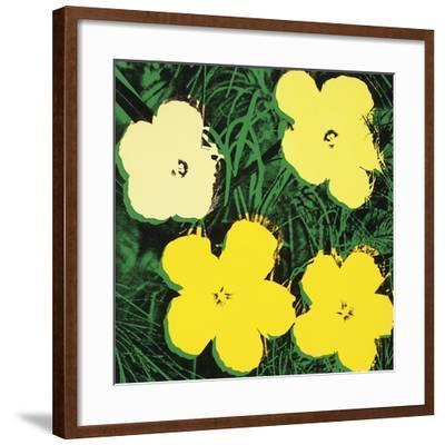 Flowers, 1970 (4 yellow)-Andy Warhol-Framed Art Print