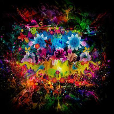 Flowers Abstract-reznik_val-Art Print