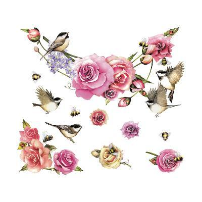 Flowers and Birds--Giclee Print